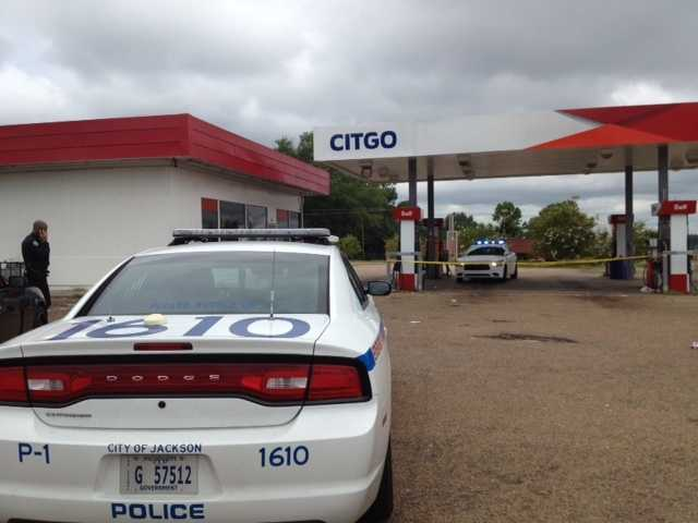 Jackson police were called to the gas station after the man collapsed.