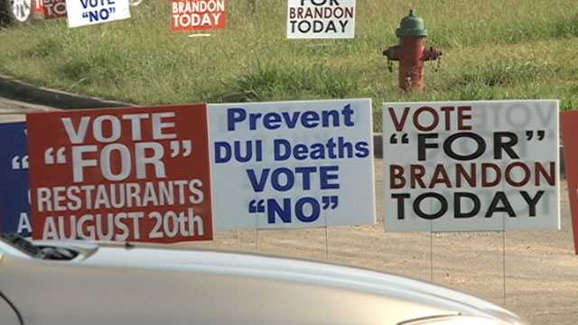 Brandon election signs