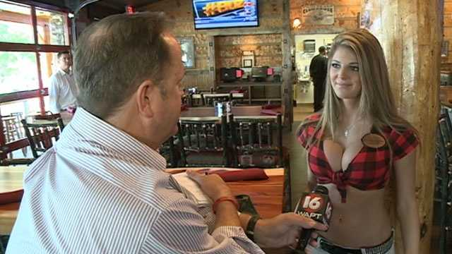 Miss Twin Peaks Laken Badley is in Jackson helping the crew prepare for the restaurant's grand opening.