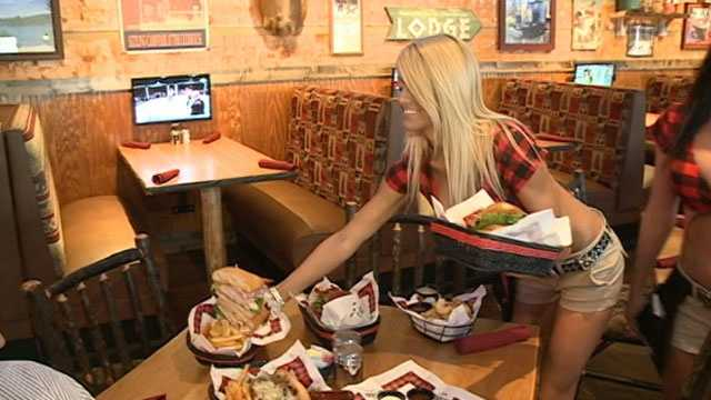 Twin Peaks employees prepare for restaurant opening. Click here for pictures and video.