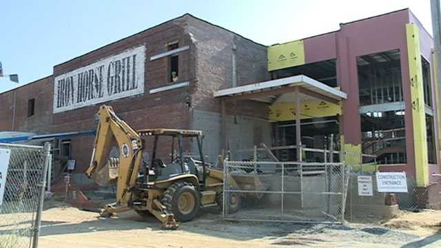 Iron Horse Grill construction 2