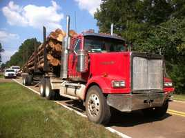 One person was injured Thursday when a log truck and an SUV collided in Copiah County, the Mississippi Highway Patrol said.