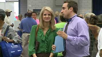 16 WAPT's Megan West and Ethan Huston were on-hand at the event at the Trade Mart.