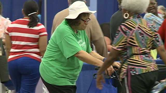 Senior citizens attending the event were able to get health screenings and information to keep them well.