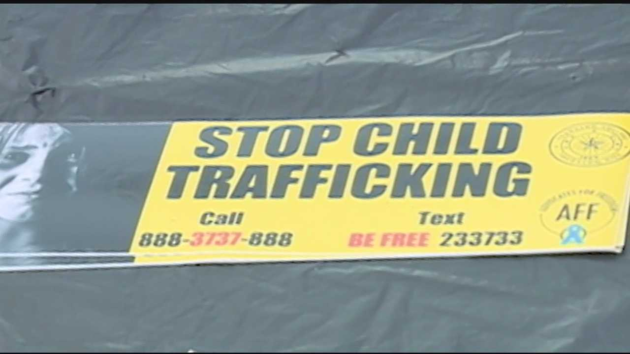 Today dozens of people joined together to raise awareness on human trafficking.