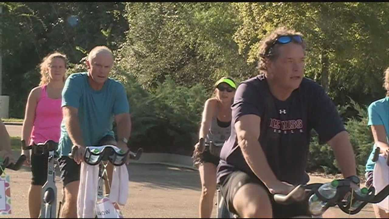 The wheels were spinning to raise money for a group that helps intellectually disabled individuals.