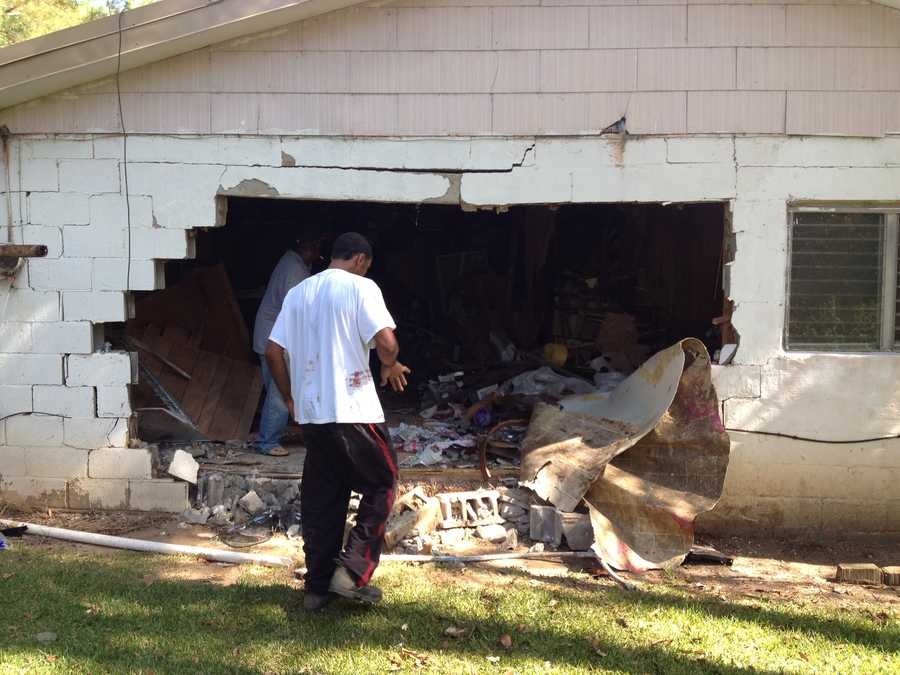 About 9 a.m., a Mitsubishi Eclipse came over a hill, lost control and careened off the road and crashed into the house at 589 Zion Hill Road.