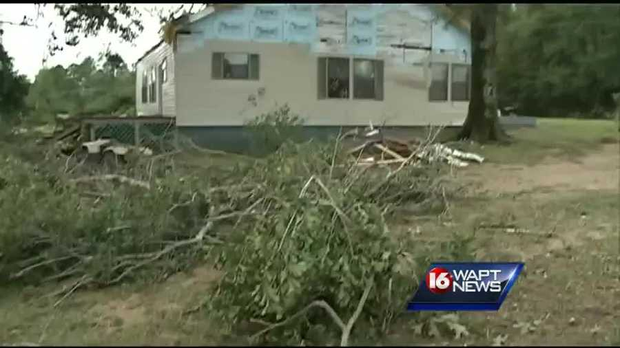 Soujourner's daughter's home was damaged in the storm.