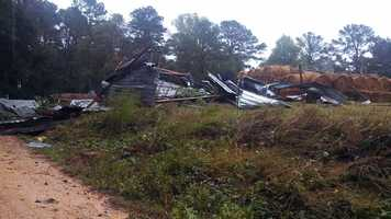 Tornado damage in Smith County.