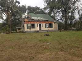 Tornado damage in Natchez.