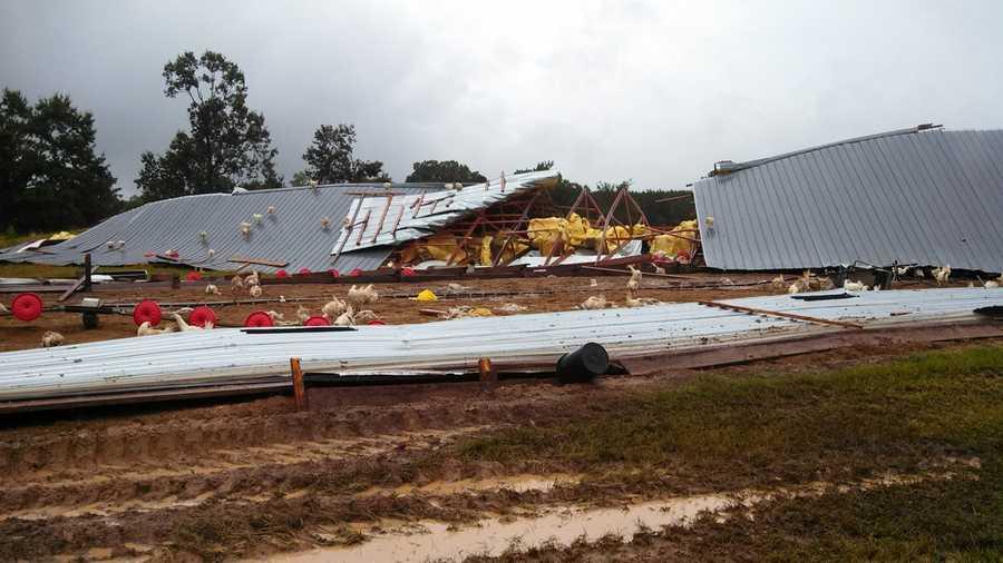 Tornado damage in Rankin County.