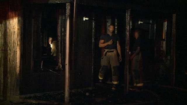 A man was hospitalized Tuesday after a fire broke out at a Jackson duplex.