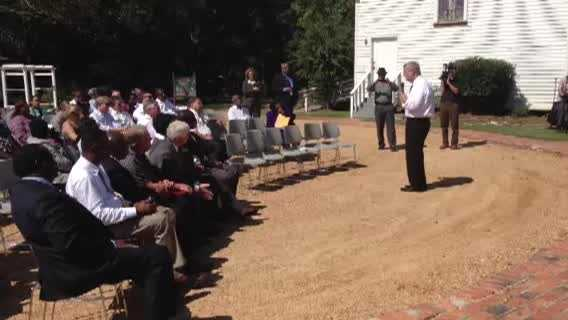 Agriculture Secretary Tom Vilsack attends a town hall meeting in Jackson and announces $3 million in funding.