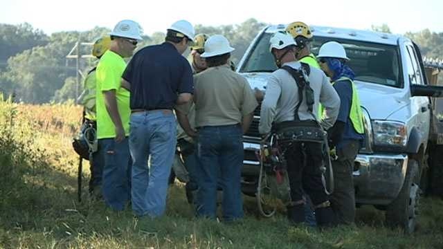 It's not unusual for Entergy linemen to work on top of a power pole. But sometimes how they got there is.