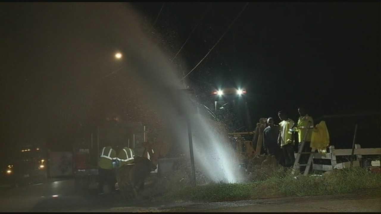 Water main break in South Jackson
