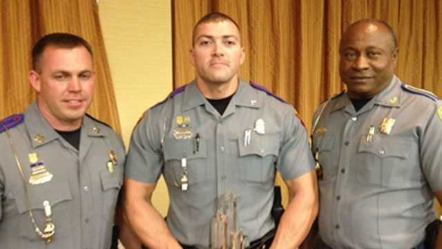 Capt. Chad Moore, Trooper Charles C. White, Col. Donnell Berry