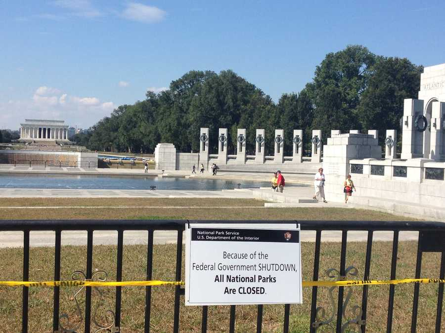 The monument was blocked off because of the closures, but there were lawmakers there who helped the veterans get onto the grounds.