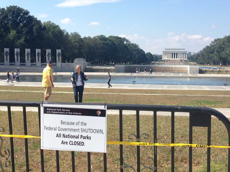 Monuments in Washington, D.C., were closed Tuesday because of the government shutdown, but that didn't stop some veterans.