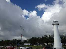 Clouds rolled in Friday afternoon over Biloxi.