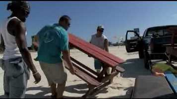 Some on the Mississippi Gulf Coast were preparing for Karen.
