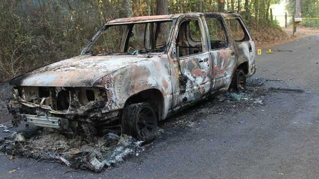 burned up car