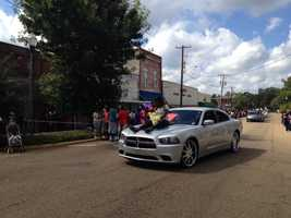 Hinds Agriculture High School celebrates Homecoming with a parade.