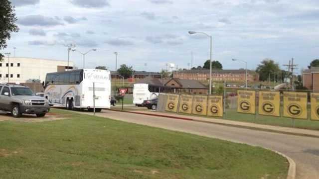Sean Isabella, of The News Star, tweeted this photo of empty buses that were to take Grambling players to the JSU game leaving after players were an apparent no-show.