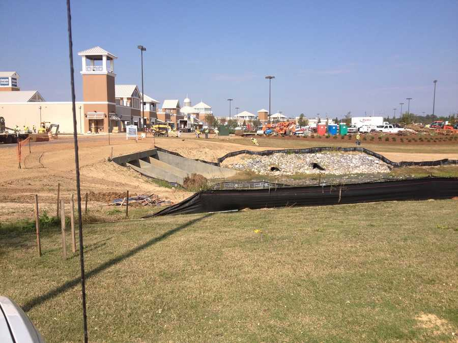 The outlet mall is set to open next month, just in time for the holiday shopping season.