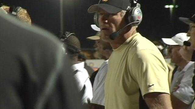 Legendary NFL quarterback Brett Favre is the offensive coordinator for Oak Grove's football team.