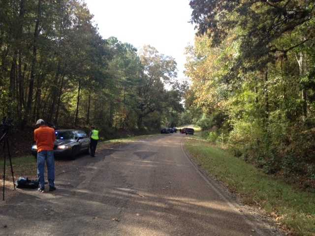 Police were at the scene on Shelby Road Tuesday morning.