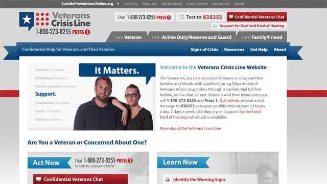 Veterans Crisis Line website