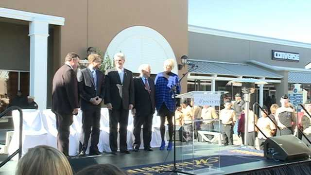 Gov. Phil Bryant was there for Thursday's grand opening ceremony.