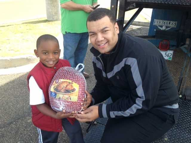 16 WAPT's Andrew Kinsey had a little helper at Turkey Drive 16.