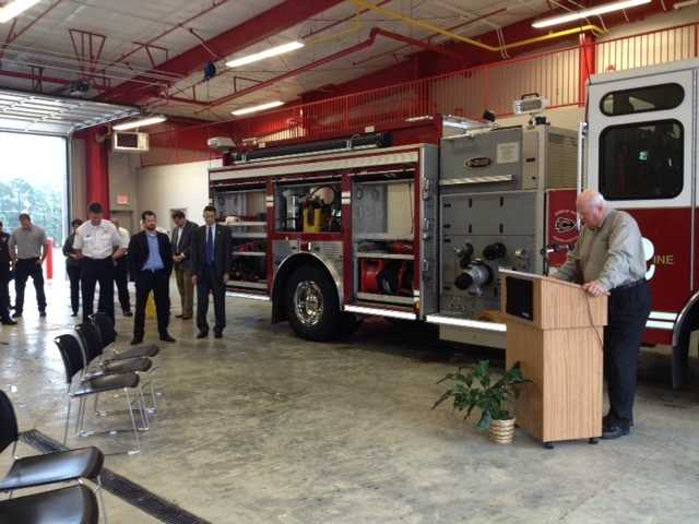 The Clinton Fire Department holds a ribbon cutting for the new Fire Station No. 2 at 911 Old Vicksburg Road.
