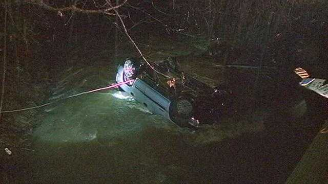 car into creek