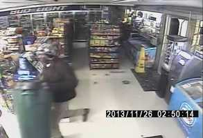 Crystal Springs police release surveillance photos of two men wanted in a convenience store burglary.
