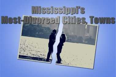 Mississippi's most divorced cities and towns.Wondering where the divorcees are? Click here to find the answer.