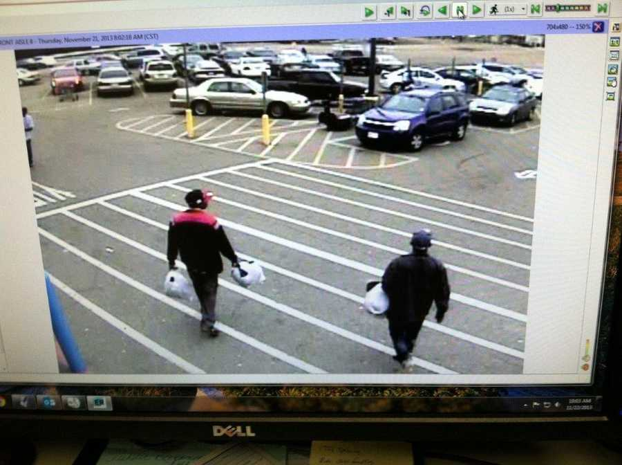 Police say credit cards stolen from some of the vehicles were used by the suspects.