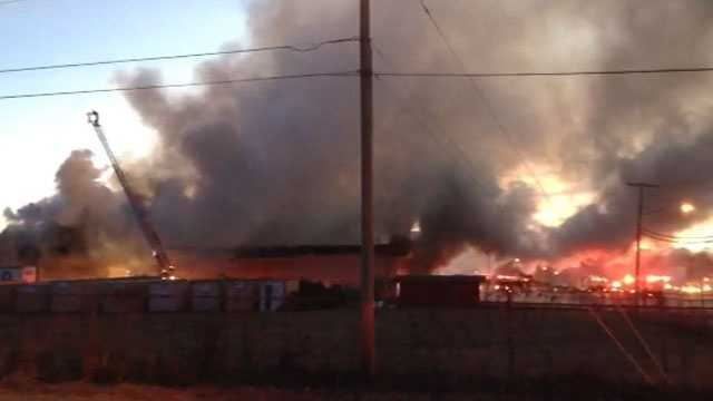 Additional firefighters were called in to battle the blaze.