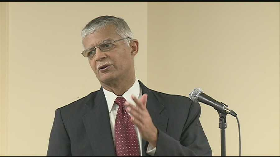 Jackson Mayor Chokwe Lumumba spoke to residents before they headed to the polls to consider a 1 percent sales tax increase to pay for infrastructure repairs.