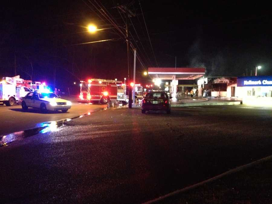 The clerk, identified by Jackson police as Gary Singh, suffered burns to his back and arms.