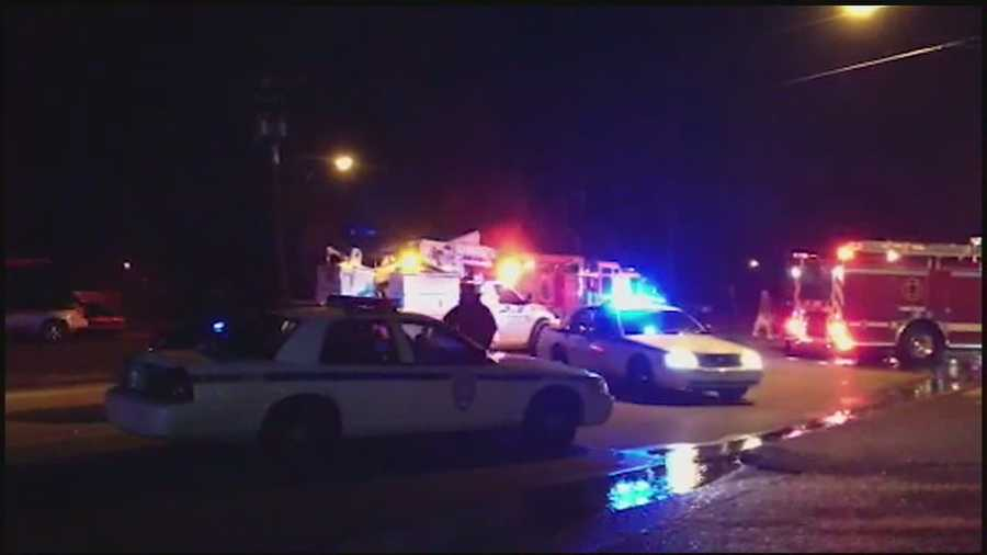 After robbing a gas station, two gunmen set the building and the store clerk on fire, Jackson police say.
