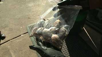 Police found this inside a north Jackson convenience store, which an officer said was opium, a pure form of heroin.