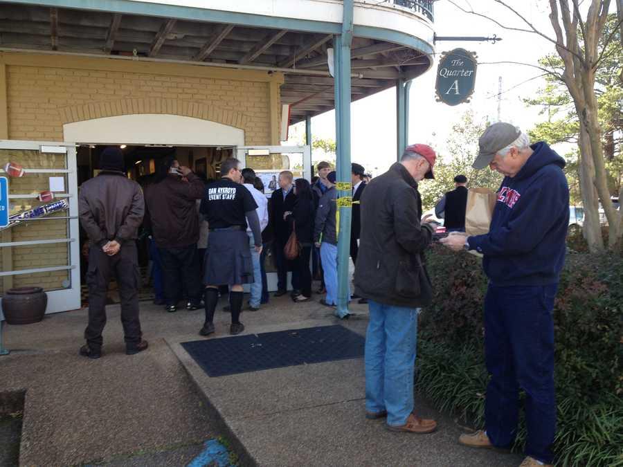 Hundreds of fans stood in line waiting to meet Dan Aykroyd.
