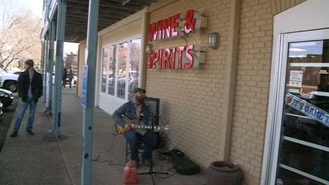 Local musician Jason Bailey entertained the crowd before the event.