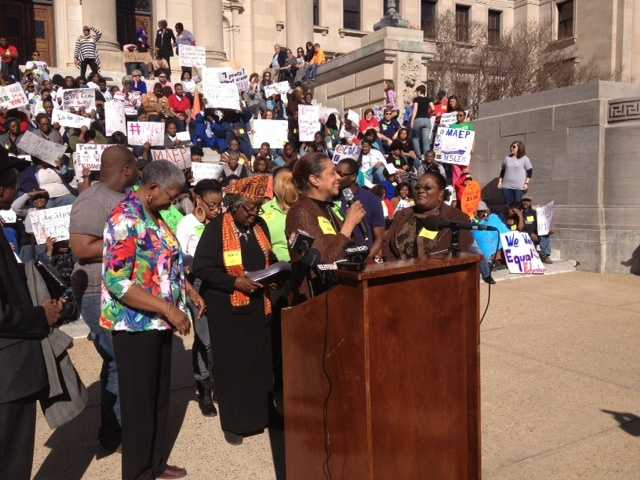 Monday's rally was organized by the Mississippi Association of Educators.
