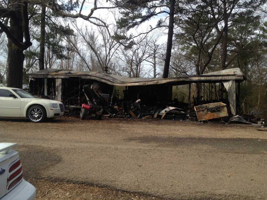 A fire destroys a home and burns a child in Copiah County.