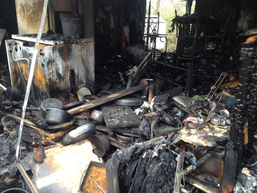 The fire broke out Sunday night at the home on Adams Lane, off Highway 27.