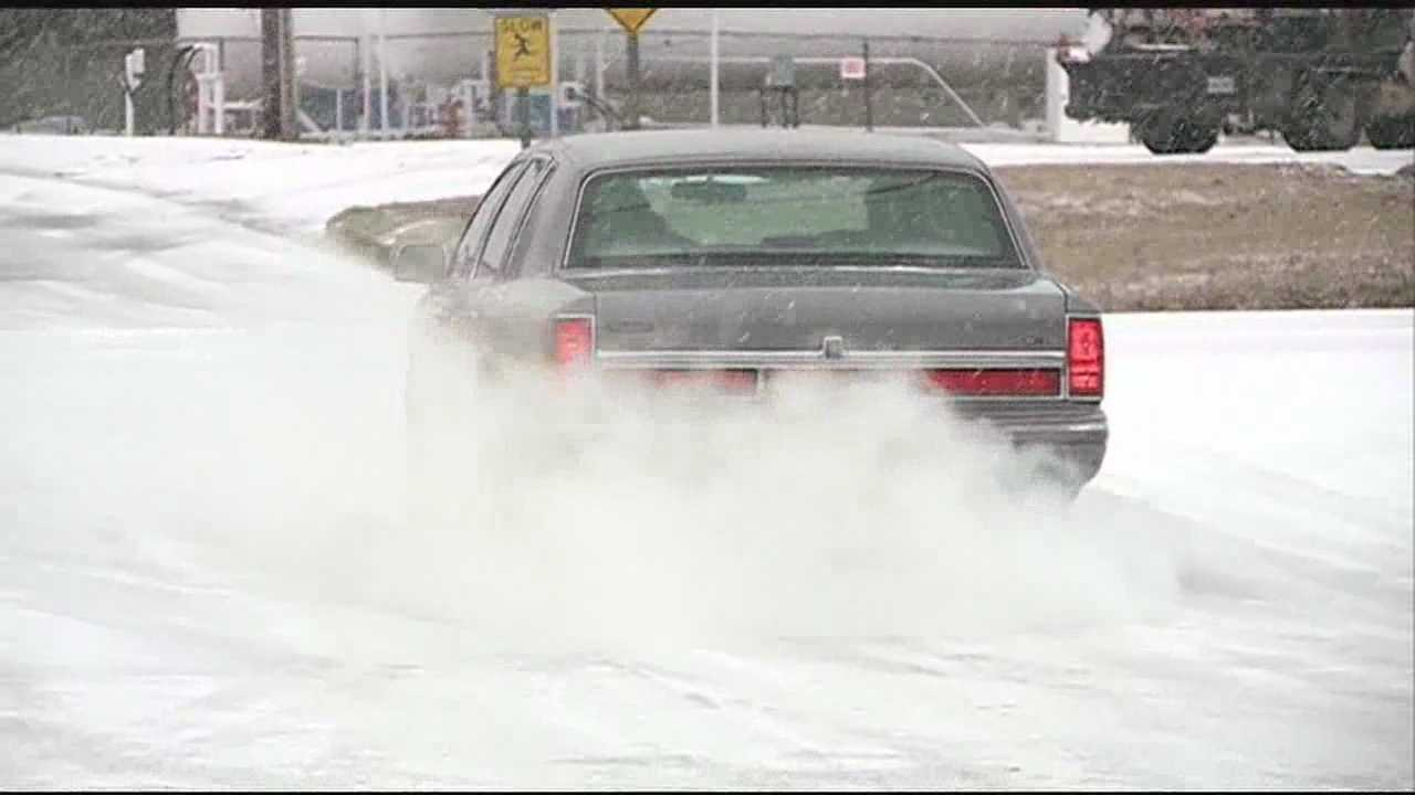 The polar blast causing icy roads across the Metro leaving dozens of cars stuck on the road