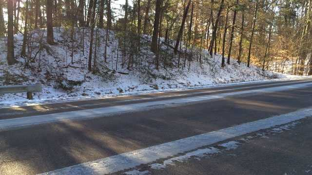 Ice remained on the roads Thursday morning in Copiah County.